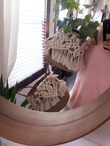 Macrame and Seagrass Baskets