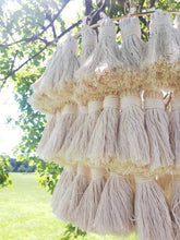 Load image into Gallery viewer, Macrame Tassel Chandelier