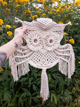 Load image into Gallery viewer, Macrame Owl on Hoop