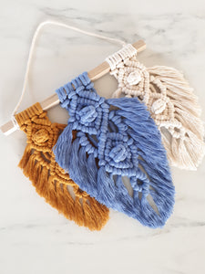 Macrame Feather Trio