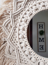 Load image into Gallery viewer, Macrame Mirror - Berry