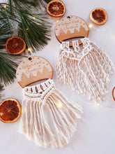 Load image into Gallery viewer, Baby's First Christmas Macrame Ornament
