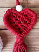 Load image into Gallery viewer, Macrame Heart Charms