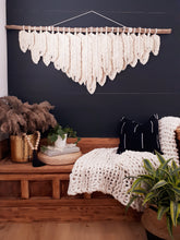 Load image into Gallery viewer, Macrame Wall Hanging - Knotted Feathers
