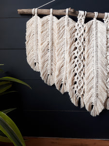 Macrame Wall Hanging - Knotted Feathers