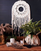 Load image into Gallery viewer, Macrame and Seagrass Basket