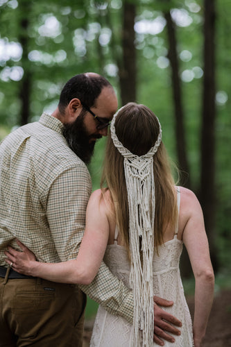 Macrame Bridal Head Piece