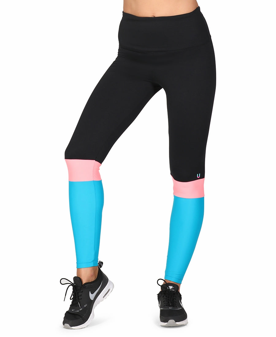 Parellèle Leggings Coral Blue