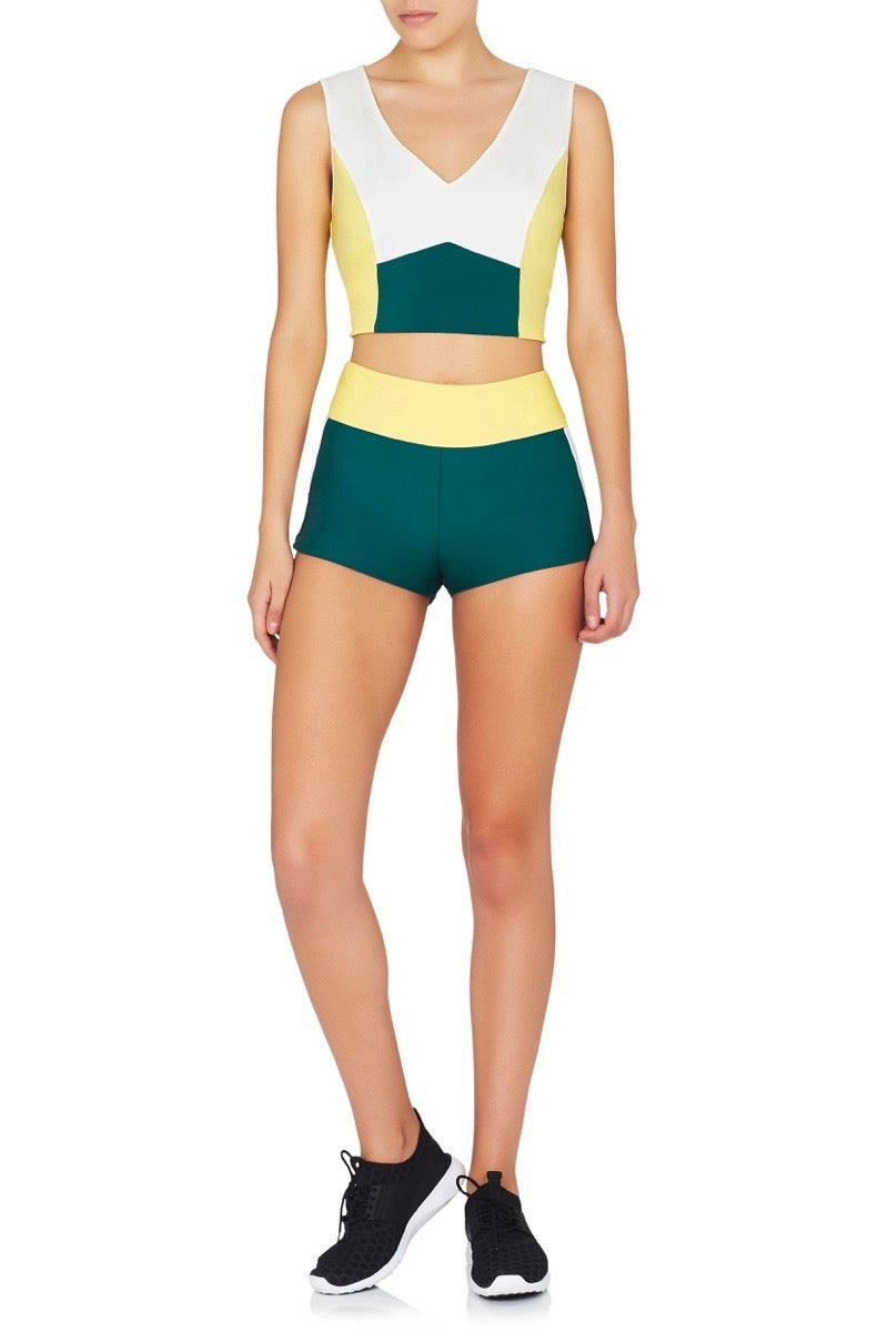Century Lotus Shorts Yellow Green