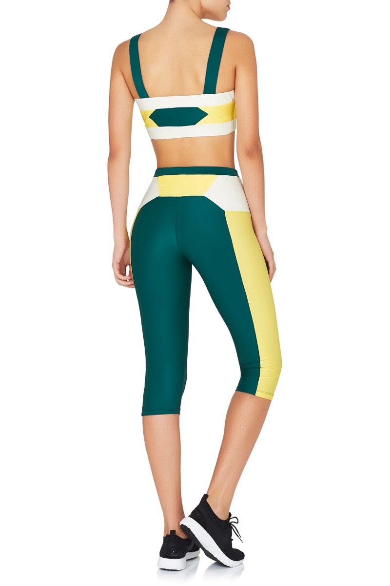 Runyon Leggings Green Yellow