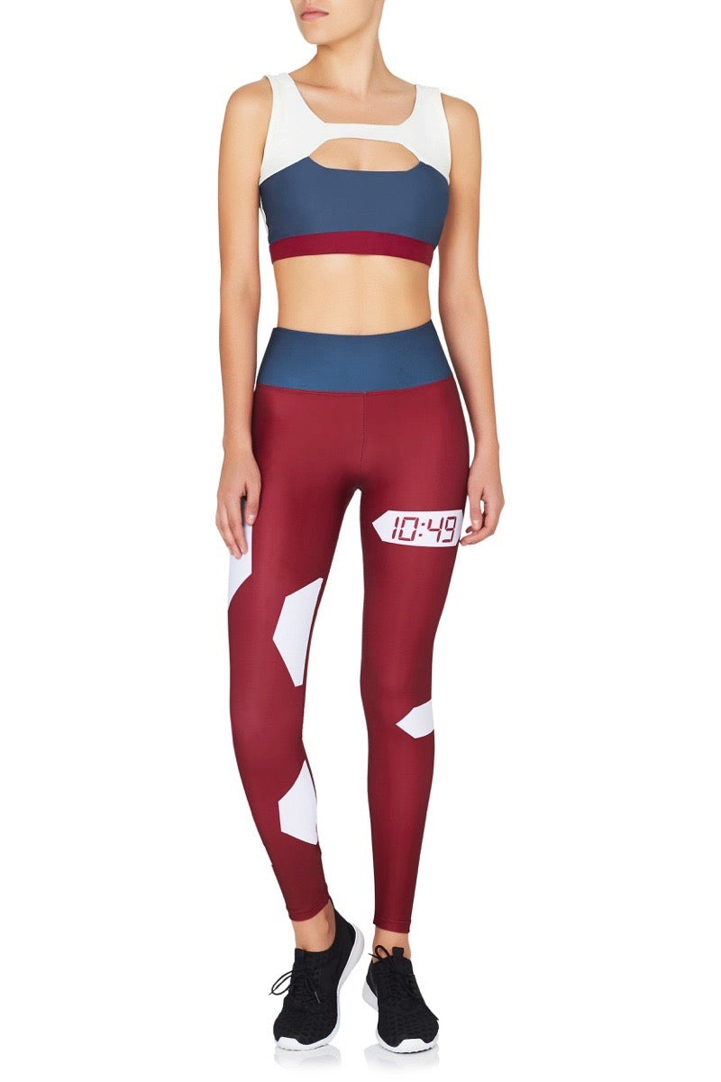 The Float Leggings Blue Red