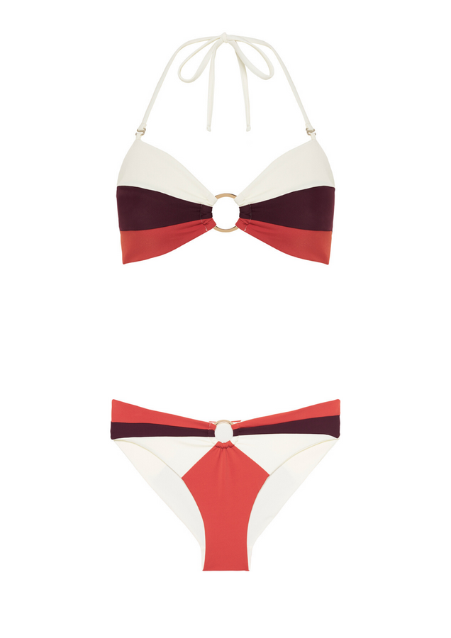 February 06:50 & 17:23 Bikini Set Red Orange