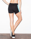 Bravura Active Shorts Black & Caribbean