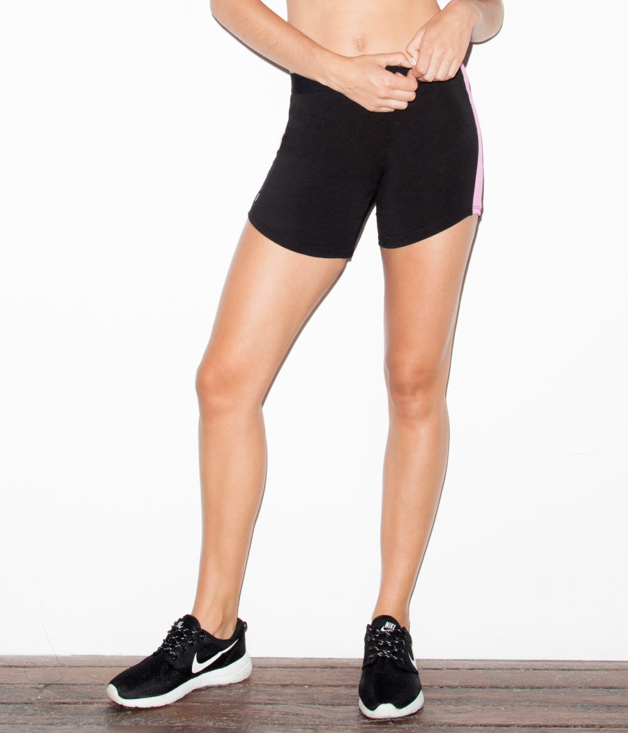 Bravura Active Shorts Black & Milkshake