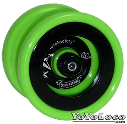 Yoyofactory Grind Machine yoyo, Green with Black rings