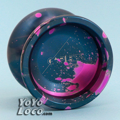 C3 Capless yoyo, Navy Blue and Pink acid wash