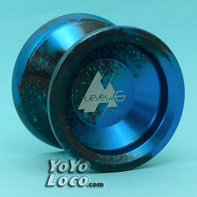 C3 Level.6 yoyo, Blue with Black Splash