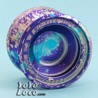 Mo-vitation yoyo by C3, Purple Blue Silver Acid Wash