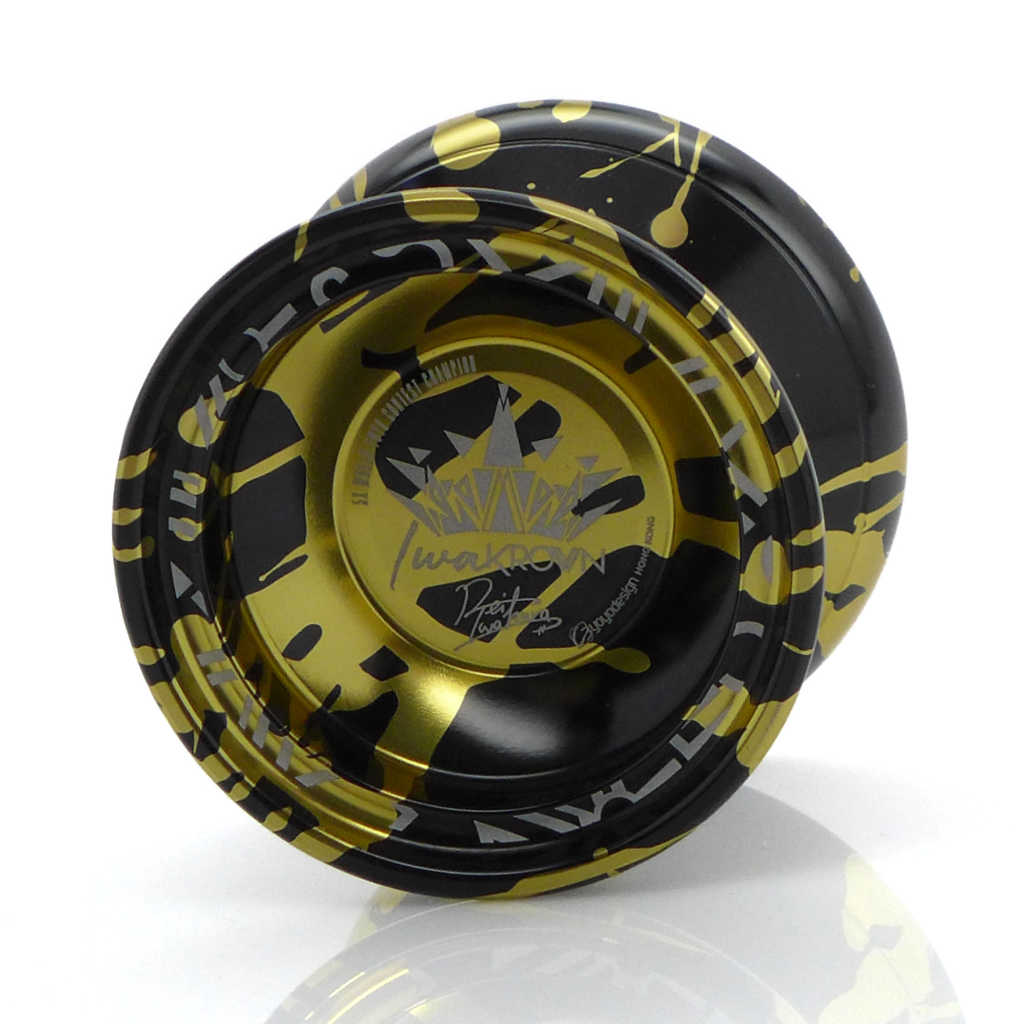C3yoyodesign Krown YoYo, Black, Gold Splash (Rei Iwakura edition)