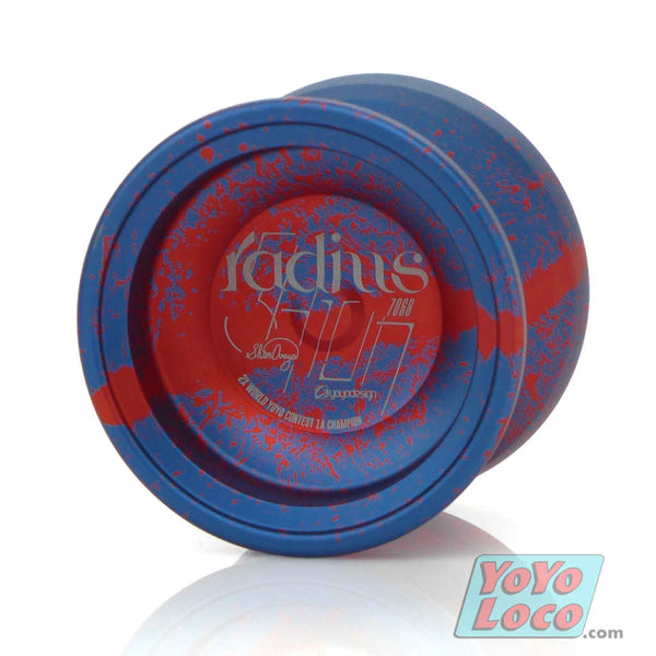 C3yoyodesign Radius 7068 YoYo, Blue / Red acid wash