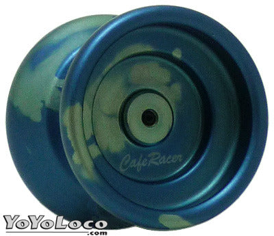 Cafe Racer Yoyo by One Drop, Blue Silver Acid Wash