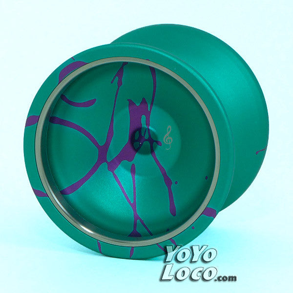 General Yo Legato yoyo, Teal with Purple Splash