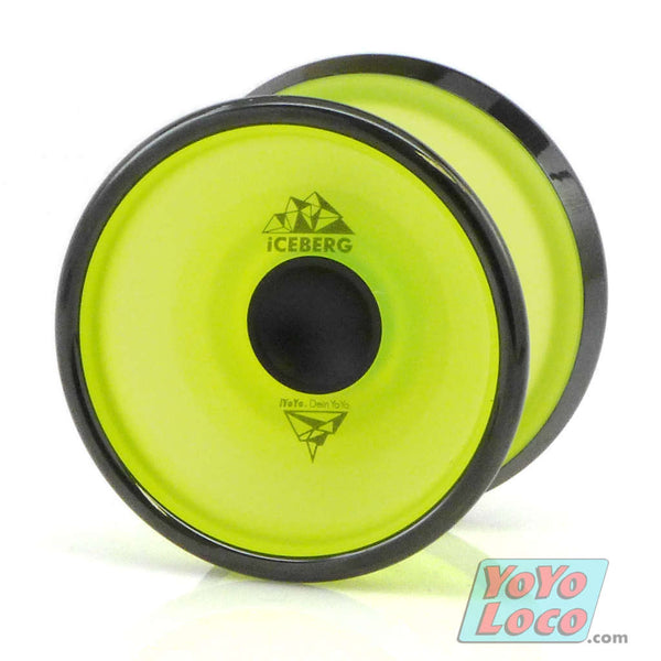 iYoYo Iceberg YoYo, Yellow Translucent with Black Rims and Hubs