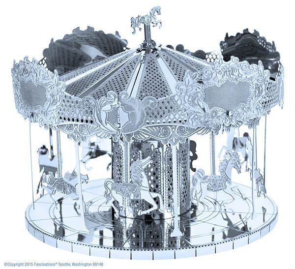 Merry Go Round 3-D Metal Earth Model