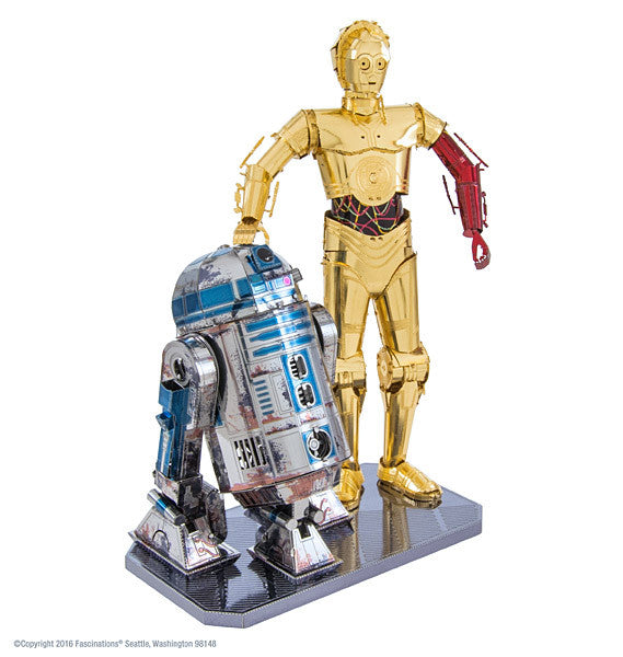 Star Wars C-3PO and R2-D2 Gift Box Set 3-D Metal Earth Model