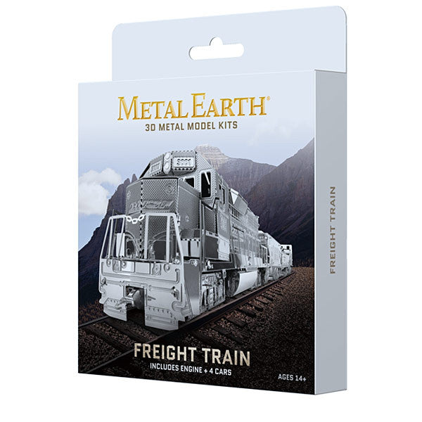 Freight Train Boxed Set 3-D Metal Earth Model - Gift Box Packaging