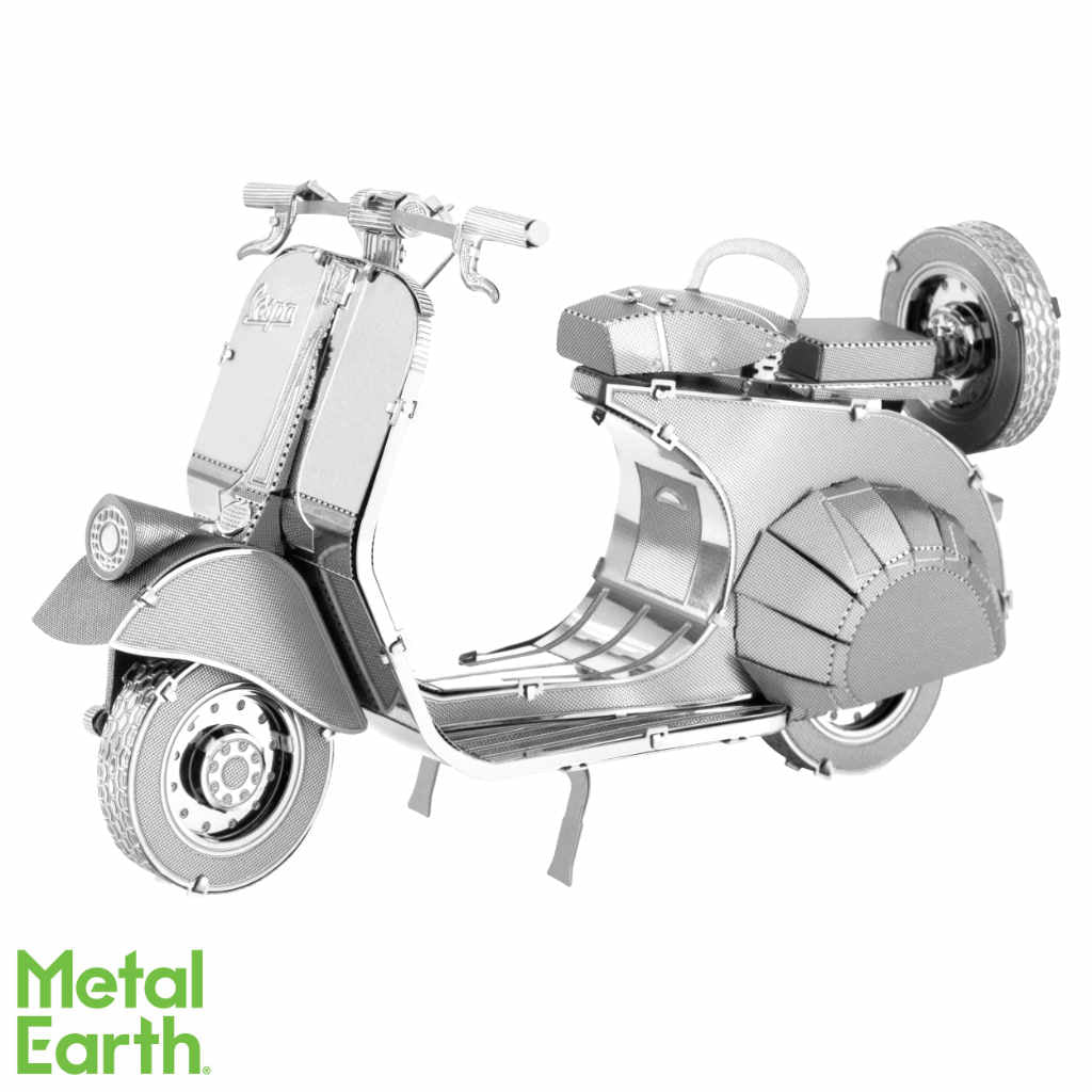 Classic Vespa 125 Motor Scooter 3-D Metal Earth Model
