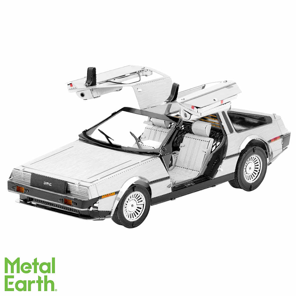 DeLorean automobile 3-D Metal Earth Model