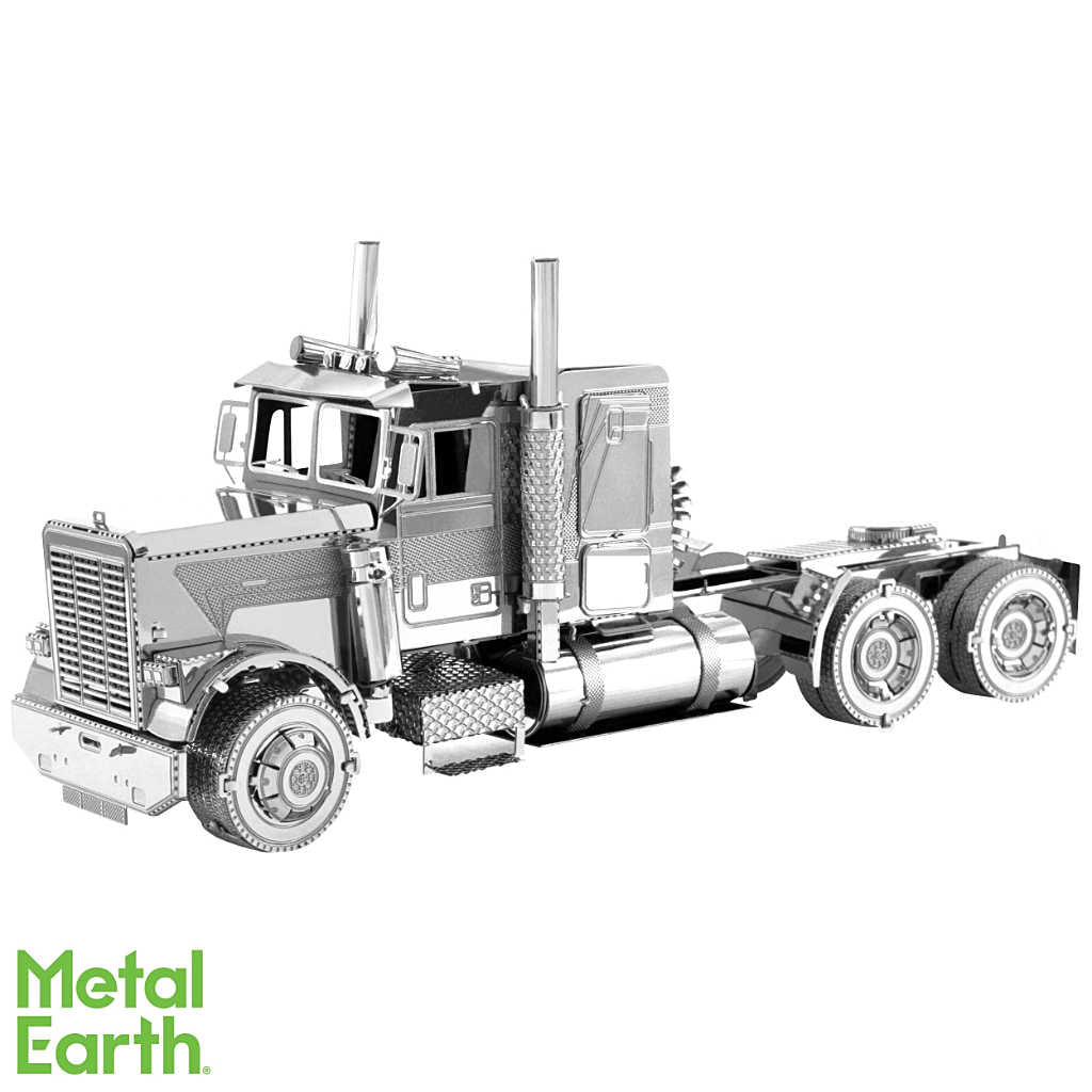 FLC Long Nose Truck 3-D Metal Earth Model