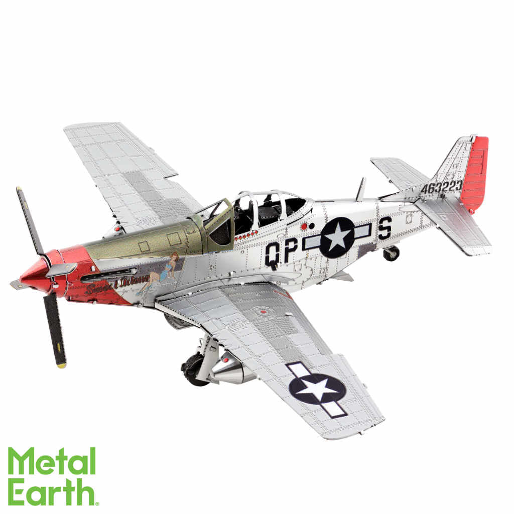 "P-51D Mustang Airplane ""Sweet Arlene"" 3-D Metal Earth Model"