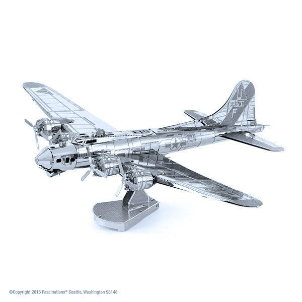 B-17 Flying Fortress Airplane 3-D Metal Earth Model