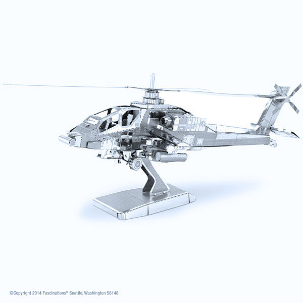 Boeing AH-64 Apache Helicopter 3-D Metal Earth Model