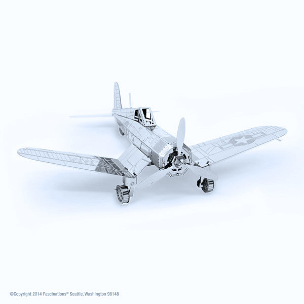 Corsair F4U Airplane 3-D Metal Earth Model