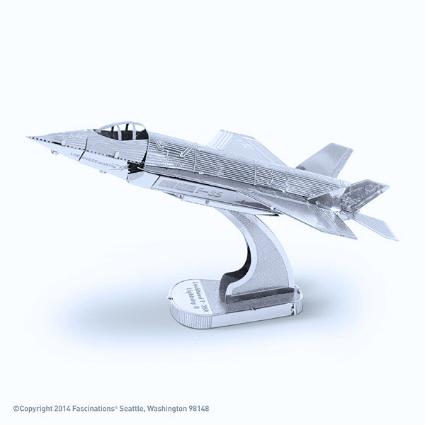 F-35A Lightning II Airplane 3-D Metal Earth Model