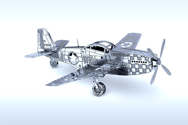 Mustang P-51 Airplane 3-D Metal Earth Model