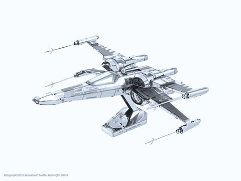 Star Wars Poe Dameron's X-Wing Fighter 3-D Metal Earth Model