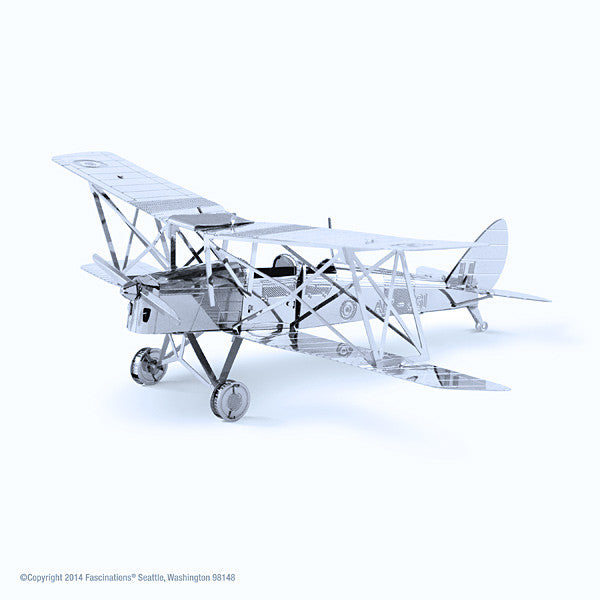 Tiger Moth DH-82 Airplane 3-D Metalworks Model