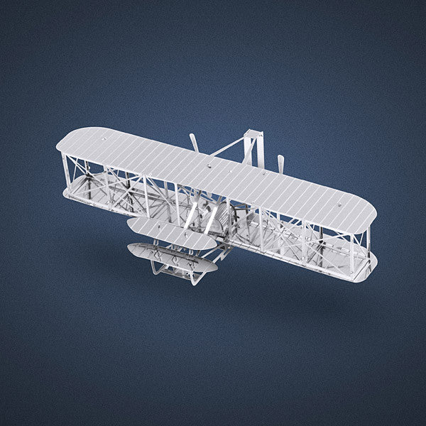 Wright Brothers Airplane 3-D Metal Earth Model