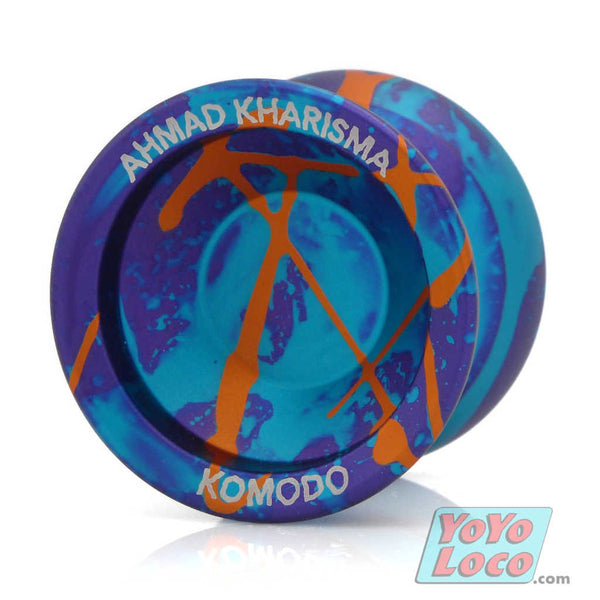 Recess Komodo YoYo, Purple/Blue Acidwash w/ Orange splash