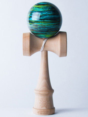 Sweets Biggie Marble Kendama, Blue - Green - Purple