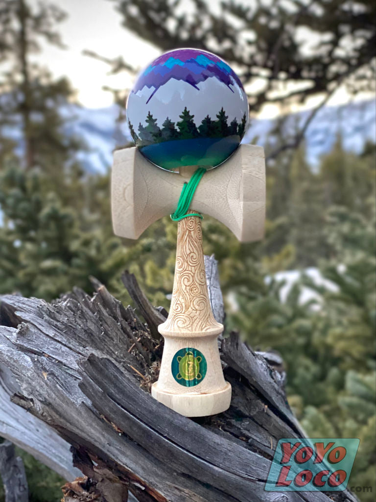 Sweets Josh FlowGrove Pro Model Kendama, in the trees view