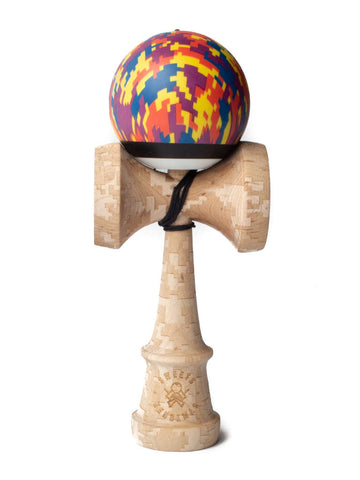 Sweets Lab, Custom Kendama V25 Camo - Digital Sunset