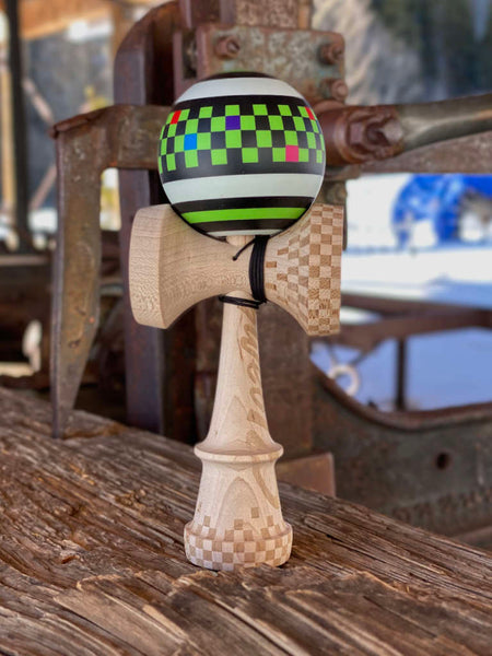 "Matt ""Sweets"" Jorgenson Legend Model Kendama, Cushion Clear, Breck sawmill pic"
