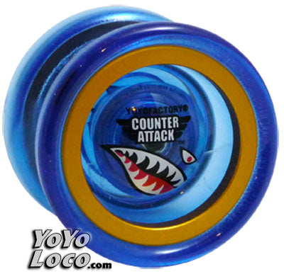 Counter Attack YoYo, Blue with Gold rims