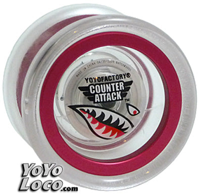 Counter Attack YoYo, Clear with Red rims