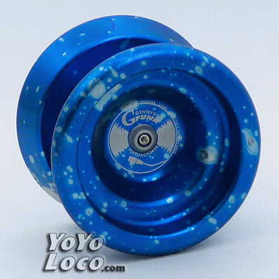 YoYoFactory G-Funk Yo-yo, Blue with Silver Splash